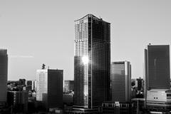 都会の朝陽