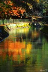 色絵錦の通水路