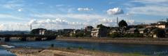 晴れのち晴れ。川沿いで一時晴れ。