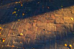 夕刻の石畳