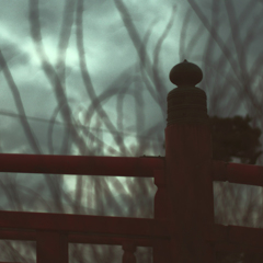 朱色の小橋