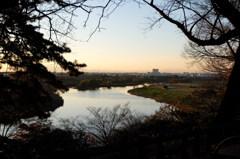 多摩川台公園からの多摩川