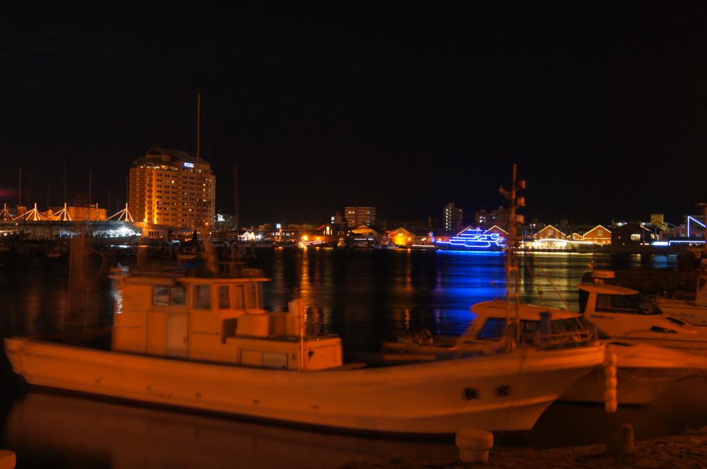 金森赤レンガ倉庫の港夜景