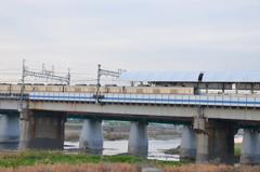 寒い季節に撮影した東武30000系