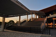 夕焼けの等々力陸上競技場