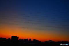 富士山の夕焼け