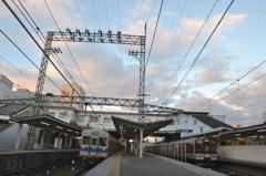 河内長野駅の南海と近鉄