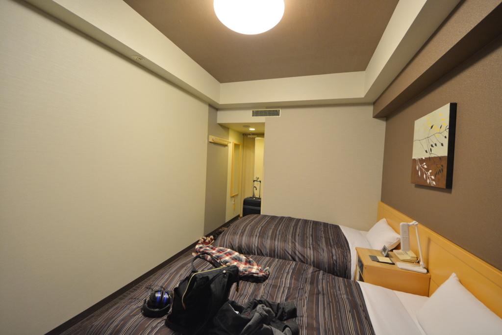 ルートイングランディア函館の部屋(入り口側)