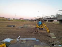 丸子橋ゴルフ練習場のクレーン