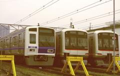 西武6000系と東急5050系(まるで古い写真再現)