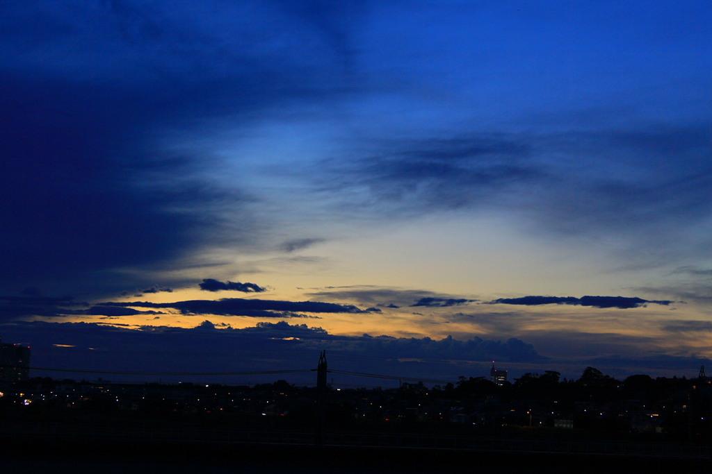 夏の終わりの夕焼け
