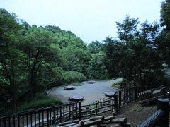緑地の休憩所