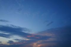 梅雨明けの夕焼け