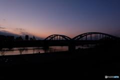 丸子橋の夕焼け