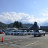 「道の駅」白州の駐車場