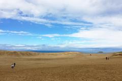 青空と砂丘
