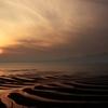 夕陽の砂紋