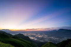 絶景の夜明け