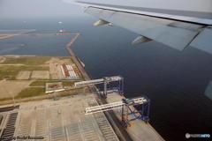 Landing at Haneda Airport