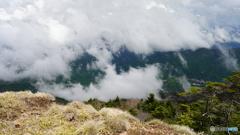 雲が上がってくる
