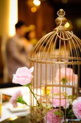 籠の中の花
