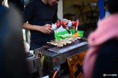 串焼き ~ Df+NOKTONにて築地場外市場散策