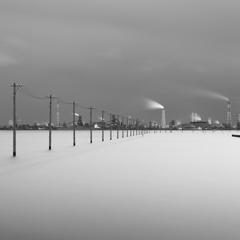 江川海岸の電柱