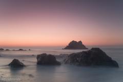 弥八島の朝