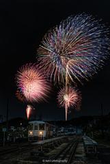 小さな町の花火大会