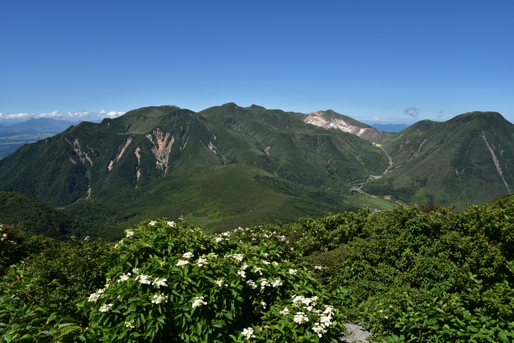 夏のくじゅう連山