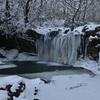 氷瀑の暮雨の滝