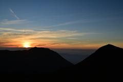 くじゅう連山の日の出