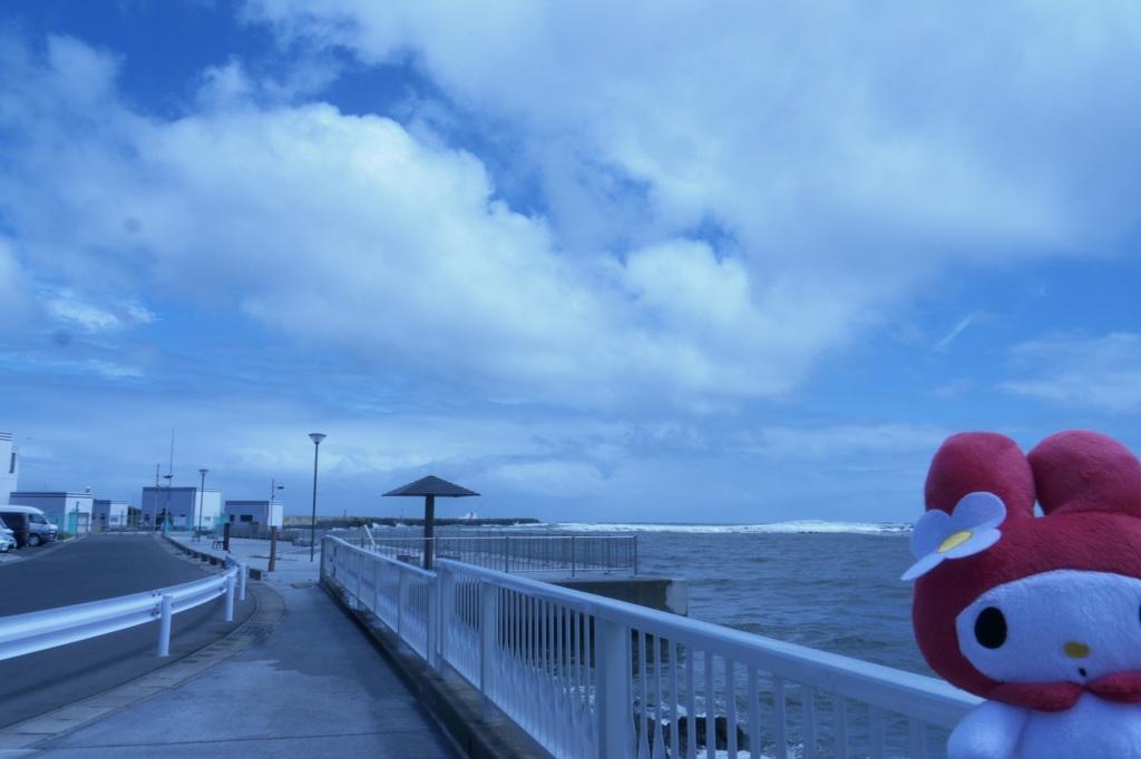 台風の前日の大洗