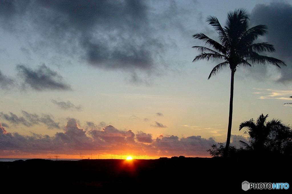 硫黄島の夕景----①
