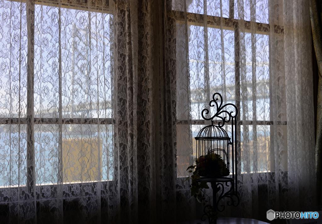 移情閣と明石海峡大橋---②