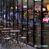 夕方のオープンカフェ