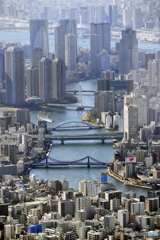 隅田川両岸の光景