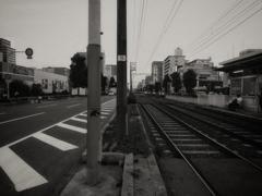 osaka steet snap ~thin thin train~