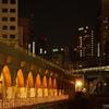夜の万世橋から