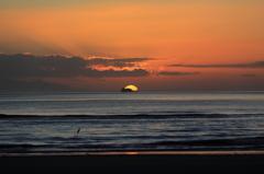 夕日~吹上浜
