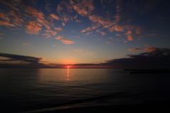 晩秋の夕日