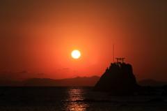 牛ノ浜に日が沈む