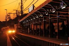 残り茜の駅