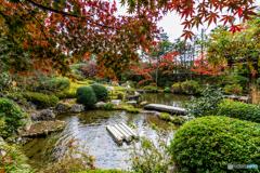 余香苑のひょうたん池