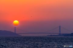明石海峡夕景色Ⅱ