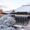 白雪の清水寺