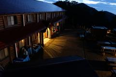 雲取山荘にて