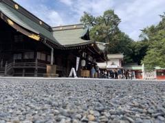 大国魂神社のローアングル