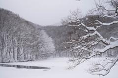 裏磐梯の冬 曲沢沼