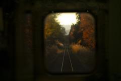 晩秋のレール